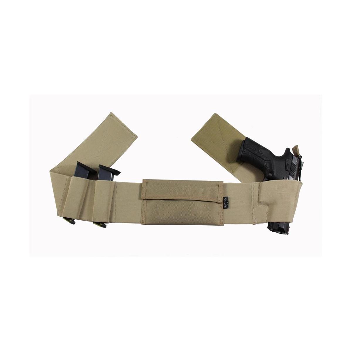 Bauchgurt Innenholster, Doppelsicherung, Braun Linkshänder, S Walther P99 / P99Q / PPQ / PPQ M2 / P99 Compact