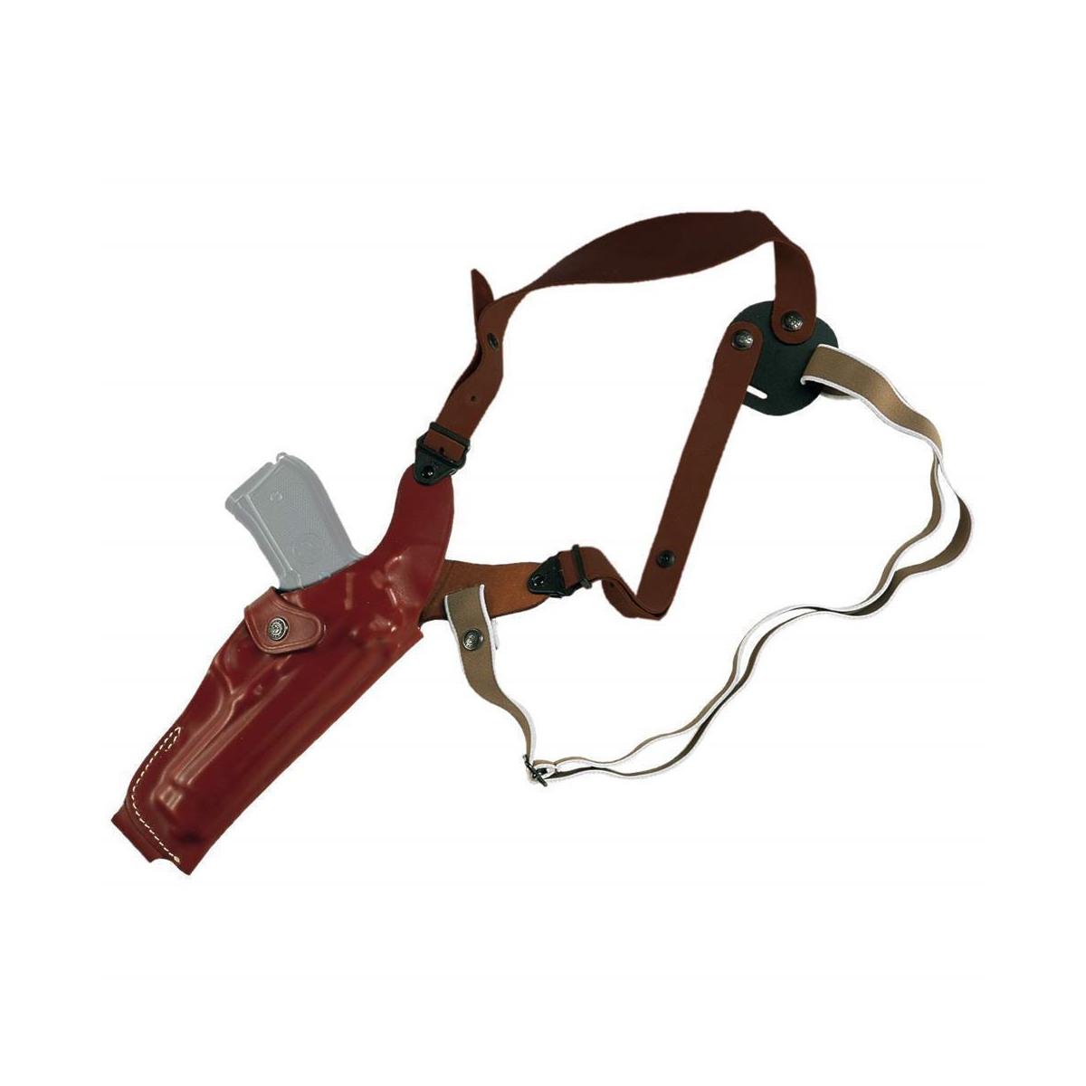 Vertical molded leather shoulder holster