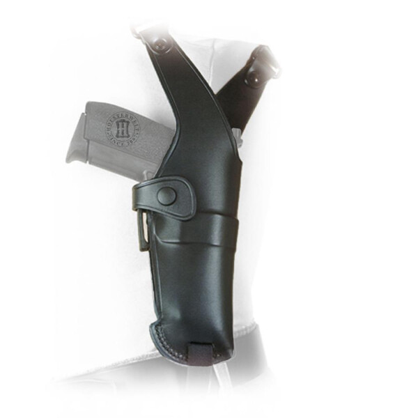 Leather shoulder holster NEW BREAK OUT + S with Safety String Right hand Black Glock 17/22,CZ M75/85,Walth. P99,Ber. 8000 Cougar