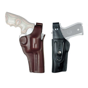 Belt holster with clip G-MAN Right hand Brown Colt Det. 2