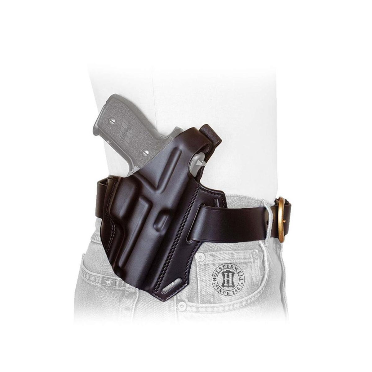 Holster MULTI VARIO right-Handed-brown-S&W L-Frame, Colt Pyth., Tauru