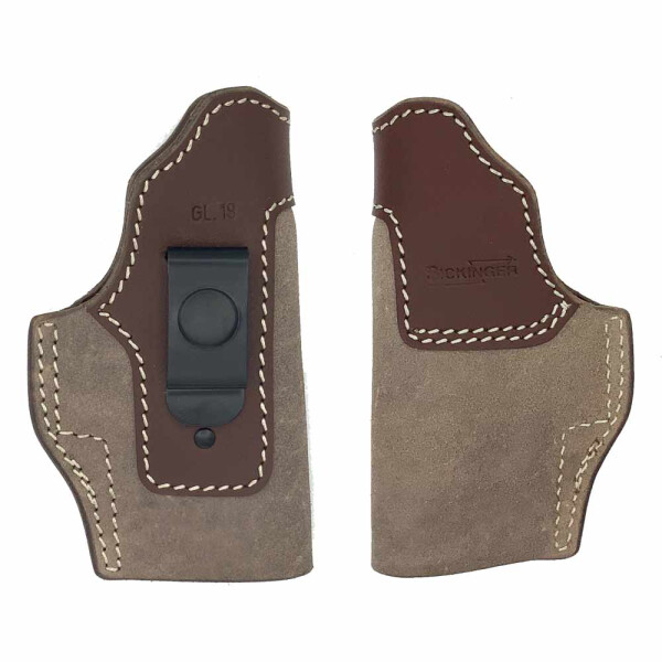 Concealed carry Holster INSIDE-CLIP right-Handed-brown-S&W 2\