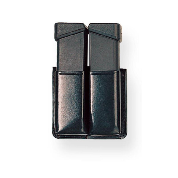 Magazintasche TWIN Box Braun- 9 mm Para einreihig / single row