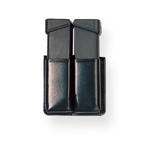 Magazine Pouch TWIN BOX brown- 9 mm Para einreihig /...