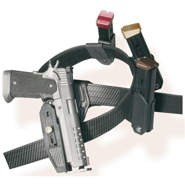 SPEED MACHINE Pistol & Revolver Holster Linkshänder-Carbon-  Glock 17 / 22 / 24 / 34 / 35    4,5 - 6,5