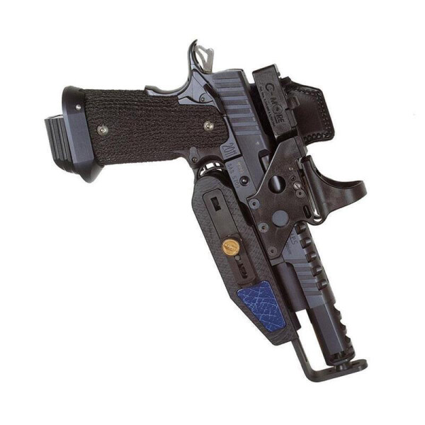 SPEED MACHINE Pistol & Rev. / 3D Edition Holster Rechtshänder-Blue-  Glock 17 / 22 / 24 / 34 / 35    4,5 - 6,5