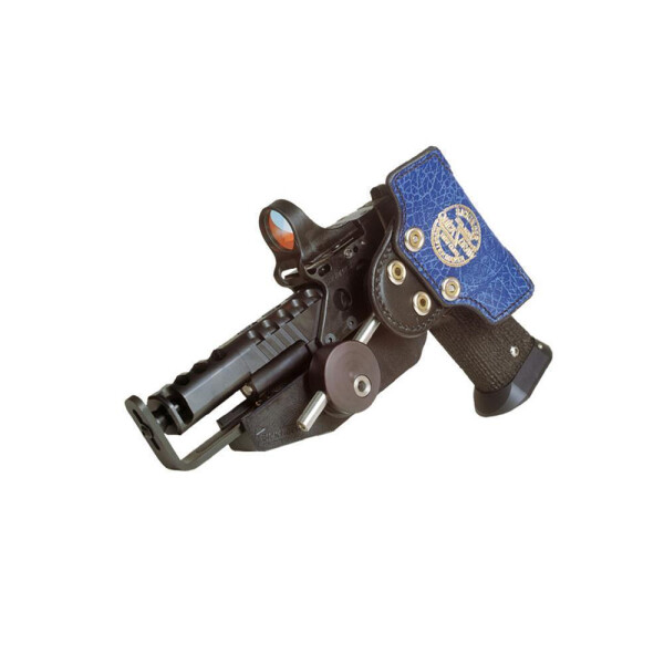 SPEED MACHINE Pistol & Rev. / 3D Edition Holster Rechtshänder-Carbon-  Glock 17 / 22 / 24 / 34 / 35    4,5 - 6,5