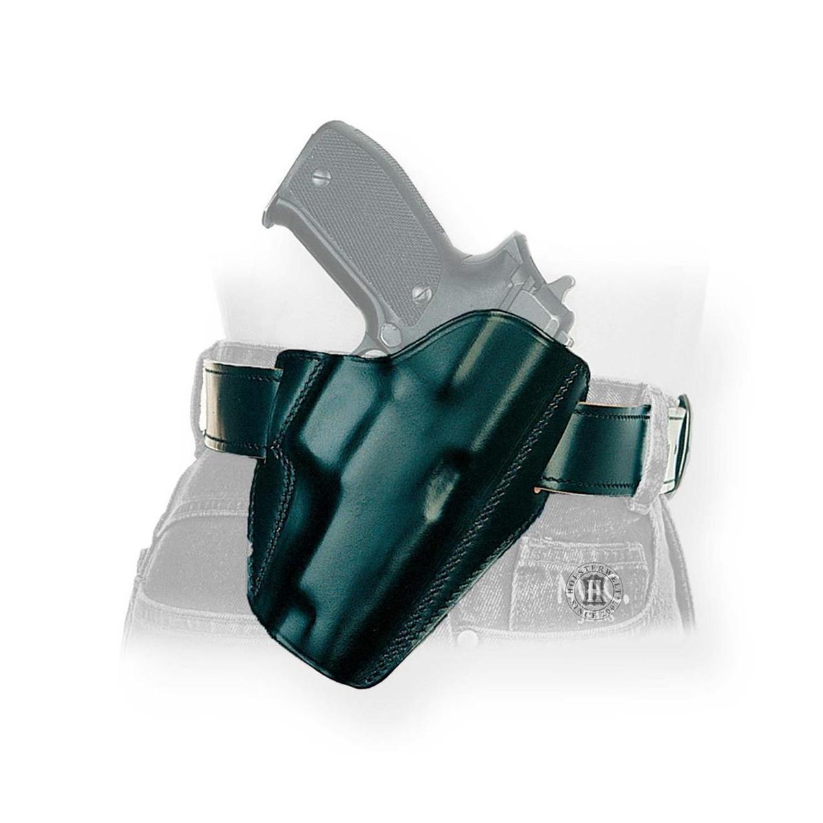 """HW357 JAGD Cross Draw Leder Holster für Revolver S/&W 3/"""" K-Frame Ruger 66"""