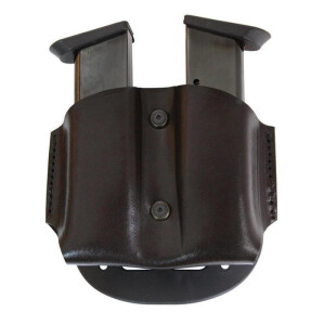 Rotation Paddle leather Holster Speed for double magazine...