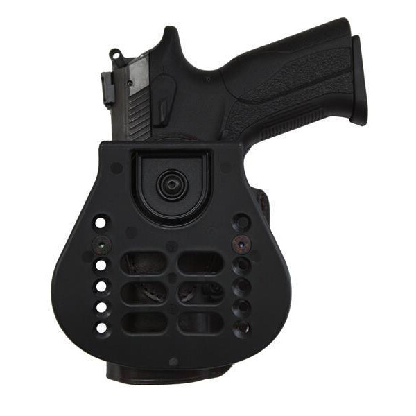 Falco Rotation Paddle Lederholster Speed PRO Linkshänder-Schwarz Colt 1911 5/ Para Ordnance 1911 5