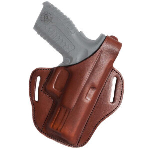 Belt holster, closed at the bottom