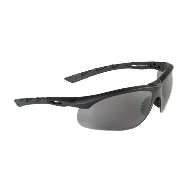 SwissEye Tactical Brille Lancer rubber black - smoke