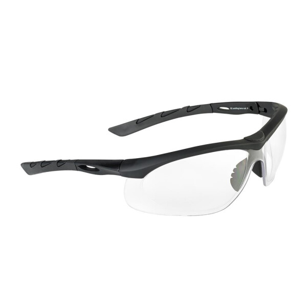 SwissEye Tactical Brille Lancer rubber black - clear