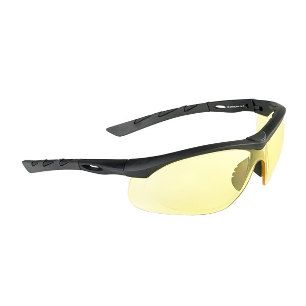 SwissEye Tactical Brille Lancer rubber black - yellow